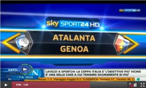 atalanta genoa 1-0 video sky