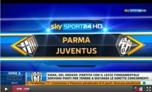 parma juventus 0-0 video sky